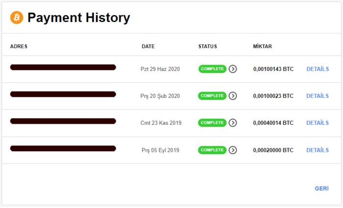 CryptoTab Browser Ödeme Kanıtı