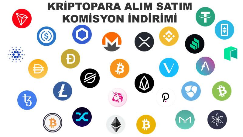 Kriptopara Alım Satım Komisyon İndirimi